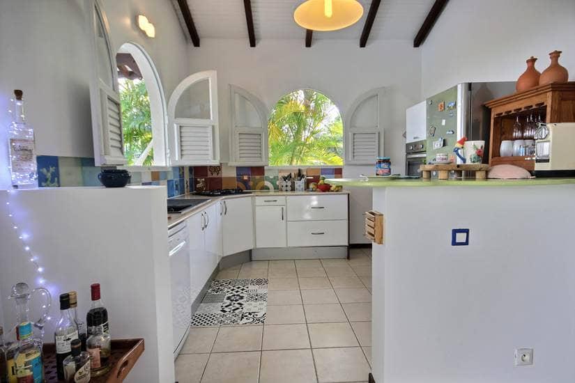 martinique villa palmier rouge cuisine 1