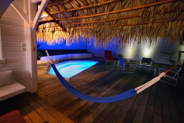 bungalow tartane ti turquoise hamac nuit piscine