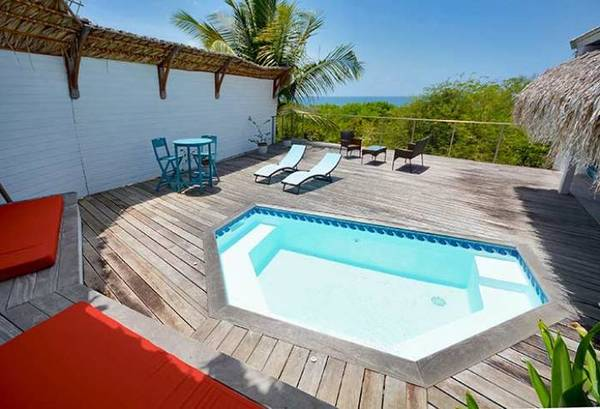 bungalow tartane ti turquoise piscine vue mer