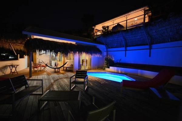 bungalow tartane ti turquoise salon lit nuit maison