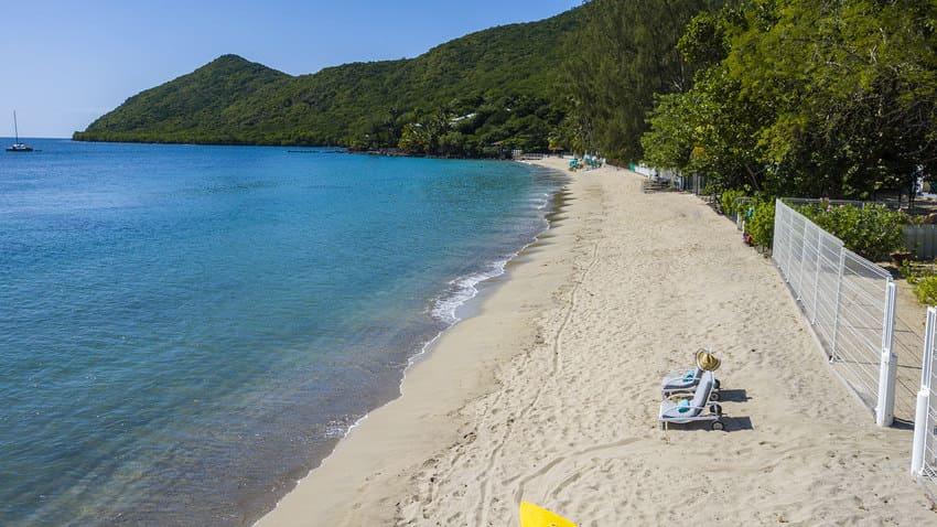 Plage Grande Anse Martinique Drone