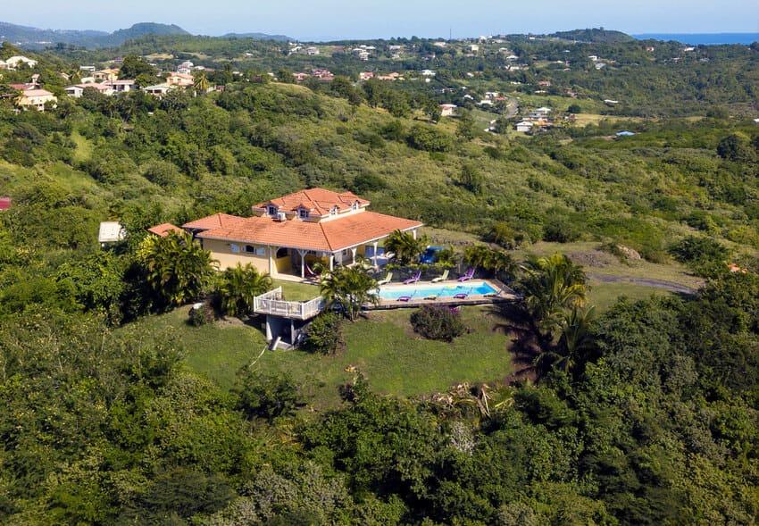 Location Villa Sainte Anne Kaz Arome Martiniue Drone