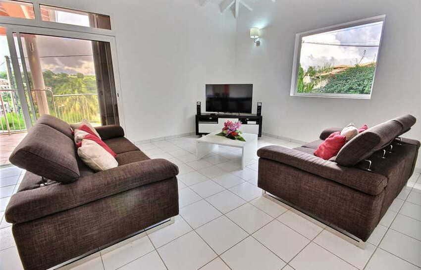 Location Villa Avec Piscine Cap Macre Martinique Salon
