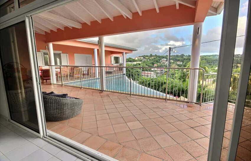 Location Villa Avec Piscine Cap Macre Martinique Vue Piscine
