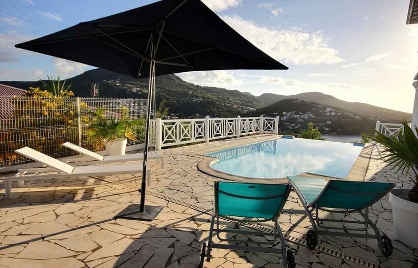 Martinique Trois Ilets Villa Anse Bleue Piscine
