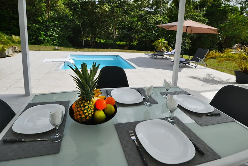 Villa Table Petite Riviere Sud Martinique Riviere Salee