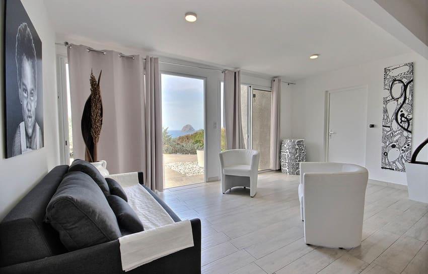 Location Villa Martinique Le Diamant Agape Salon Chambre