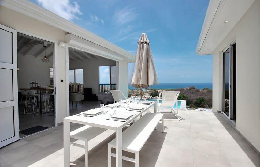 Location Villa Martinique Le Diamant Agape Terrasse Table