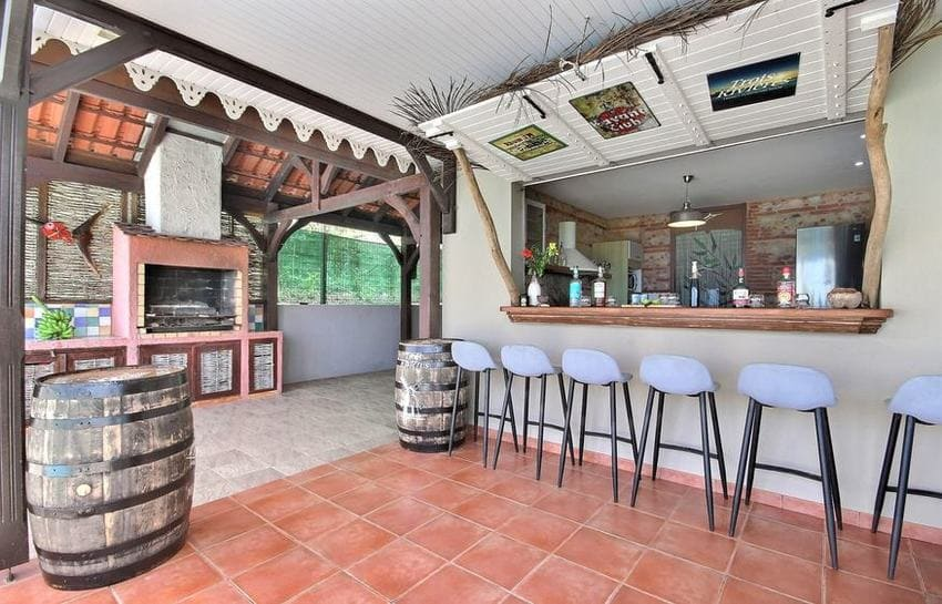 Location Villa Martinique Riviere Salee Carib Turquoise Bar Terrasse Min