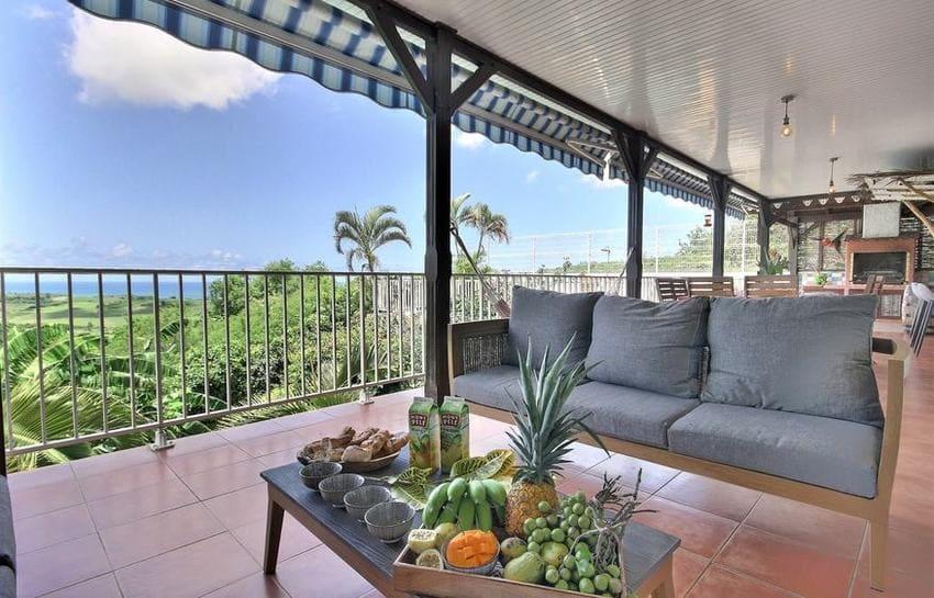 Location Villa Martinique Riviere Salee Carib Turquoise Fruits Vue Min