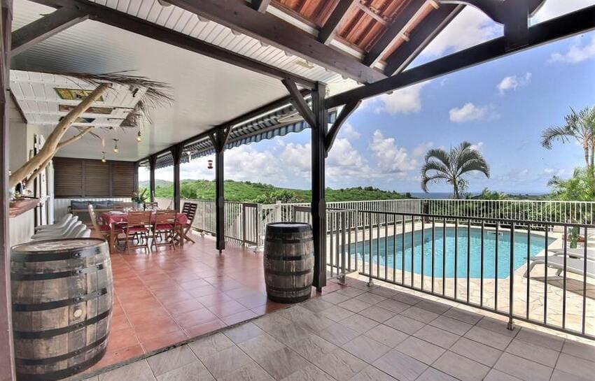 Location Villa Martinique Riviere Salee Carib Turquoise Piscine Tonneaux Min