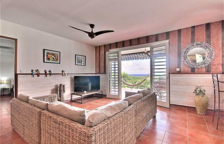 Location Villa Martinique Riviere Salee Carib Turquoise Salon 1 Min