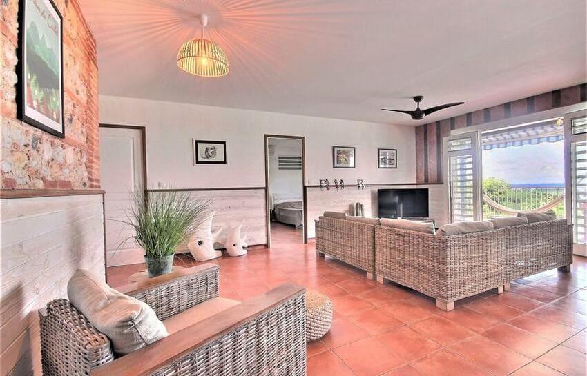 Location Villa Martinique Riviere Salee Carib Turquoise Salon 4 Min