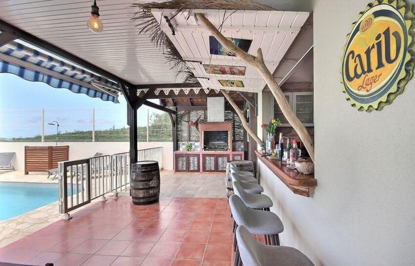 Location Villa Martinique Riviere Salee Carib Turquoise Terrasse Bar Min