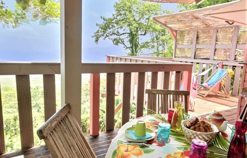 Martinique Cottage L Inka Table A Manger Exterieure