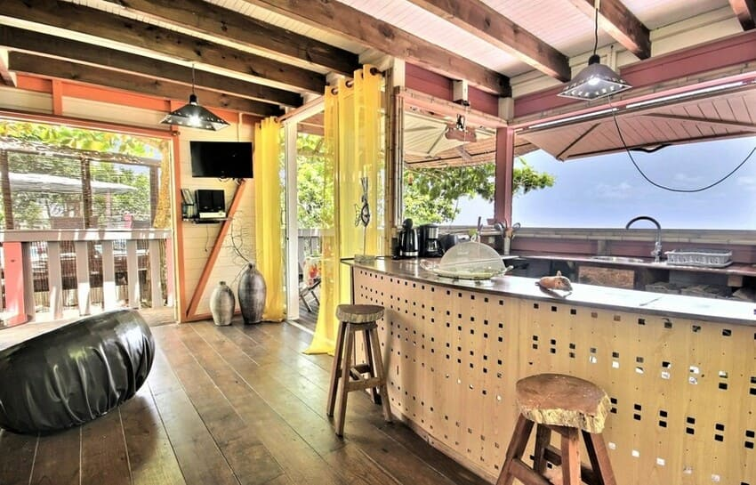 Martinique Cottage L Inka Bar Salon Cuisine