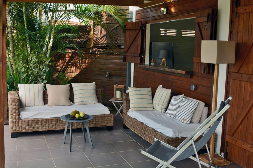 Pacific Papayer Salon Terrasse