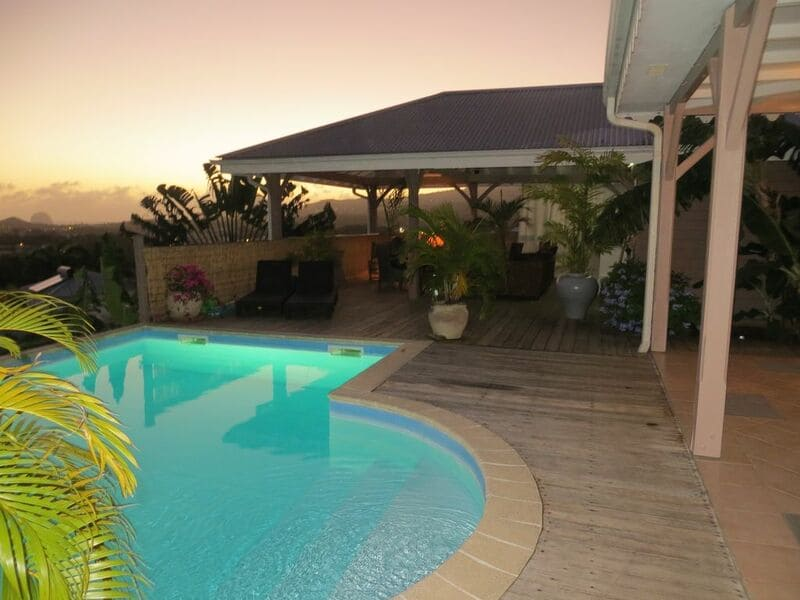 Villa Hacienda Martinique Vue Nuit