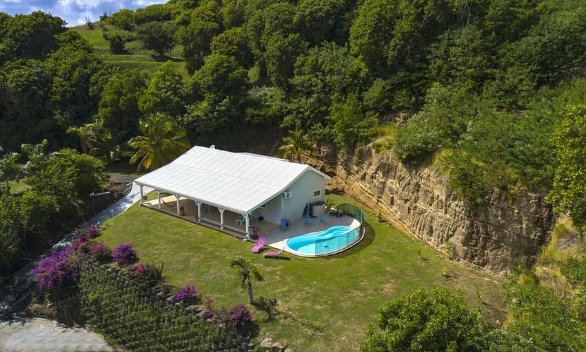 Villa Pinsonnelle Piscine Cap Est Drone