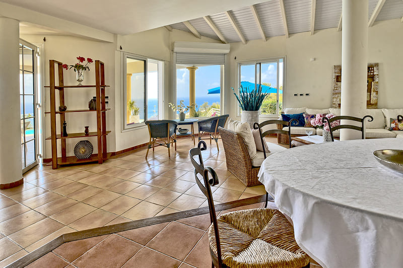 Villa Salon Les Calonnes Caraibes Martinique