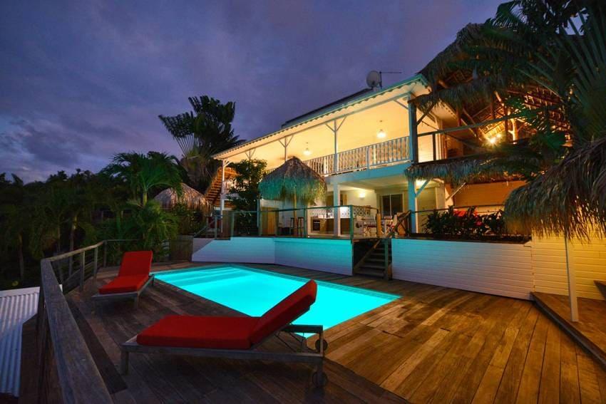Vue Turquoise Vue Maison Nuit
