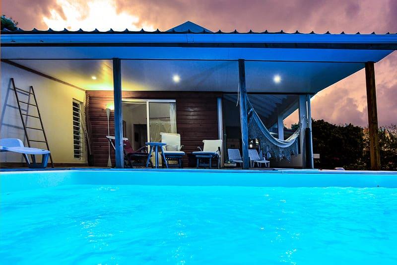 Habitation M Martinique Piscine Nuit