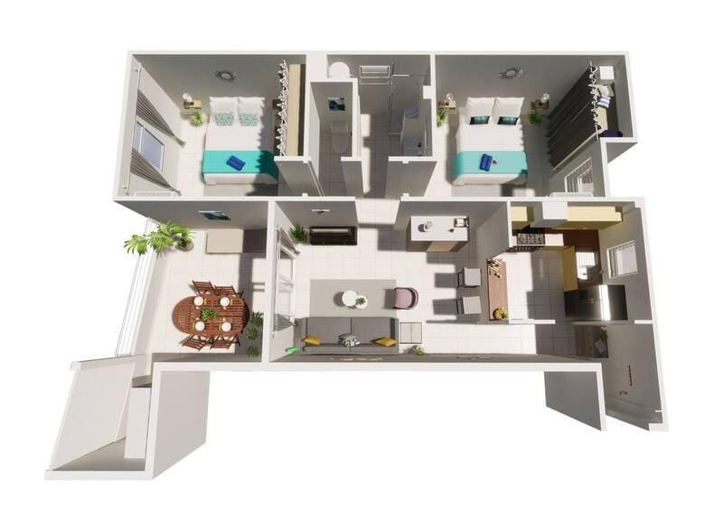 Vue 3d Location Appartement Colibri