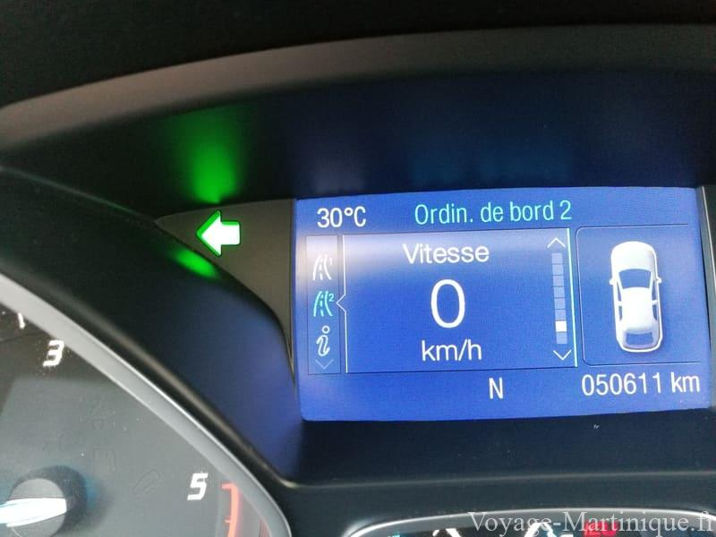 Temperature Voiture Martinique